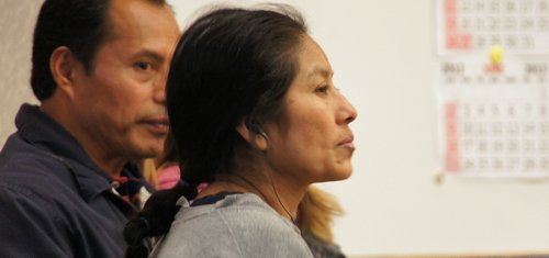 Aunt Inez at preliminary hearing last February.  Photo Weatherston.