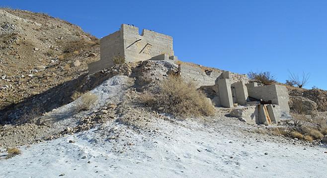 Ruins of the mine rock crusher